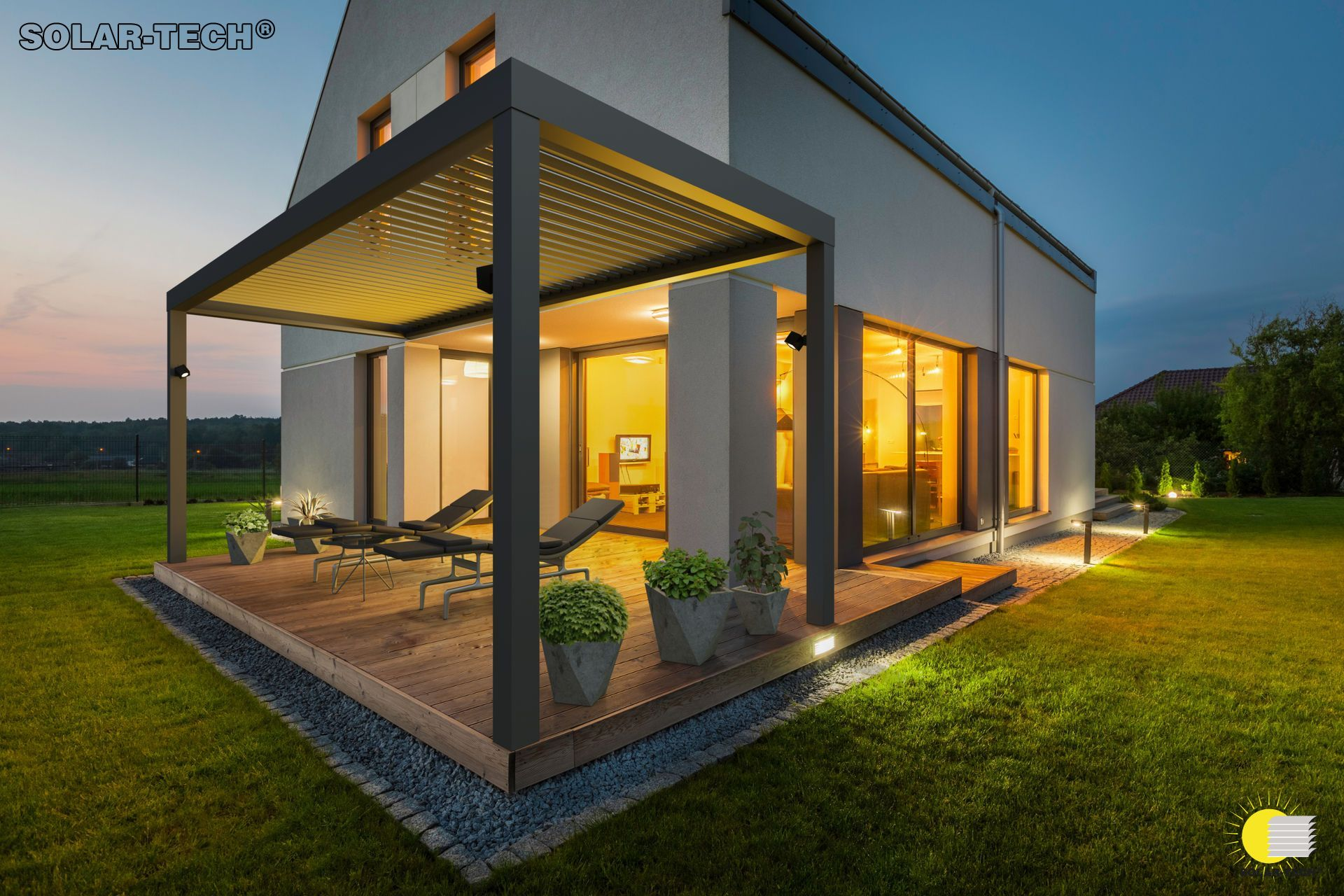 pergole primavera nowoczesne zadaszenie tarasu pro haus sczecin. Black Bedroom Furniture Sets. Home Design Ideas
